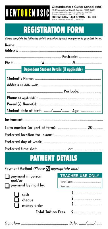 Tuition Booking Forms