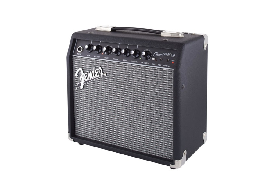 fender champion 20w 1x8 combo electric guitar amplifier w effects tap speed delay. Black Bedroom Furniture Sets. Home Design Ideas